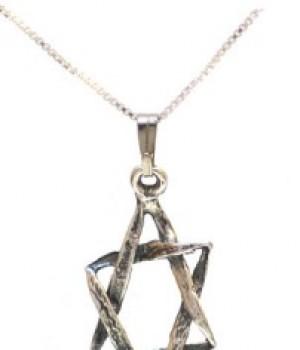 Davidstjerne i sølv uten kjede