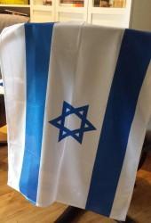 Israelsflagg 60 x 80 cm produsert i Israel. Tykk kvalitet.