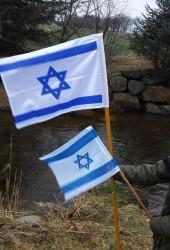 Israelsflagg str 30 x 40 middels tykk kvalitet m/løpegang