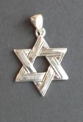 Davidstjerne i 925 sølv u/kjede