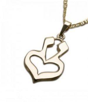 Hjerte til Hjerte – Gullsmykke 14K med kjede